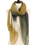 Pleated Watercolor Ombre Scarf
