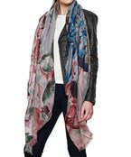 Oversized Watercolor Floral Scarf
