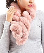 Twisted Pull Through Fur Scarf