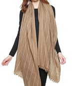 Thin Stripe Oblong Scarf