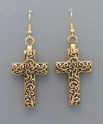 Cross Scroll Design Earrings