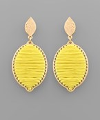 Threaded Lemon Earrings