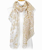 Leopard & Mixed Animal Print Scarf