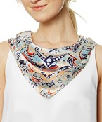 Abstract Print Square Scarf