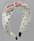 Bow Tie Dotted Headband