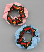 Line & Bee Color Hair Scrunchie Set