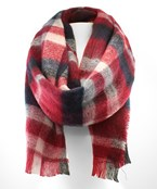 Multi Color Bold Plaid Oblong Scarf