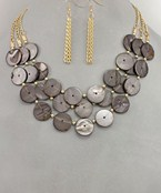 Shell Circle Layer Necklace