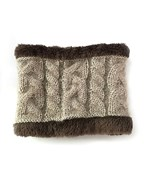 Fur & Cable Knit Neck Warmer