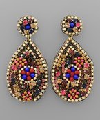 Jeweled TDrop Earrings