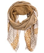 Solid & Snake Skin Print Scarf