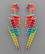 Raffia Bolt Earrings