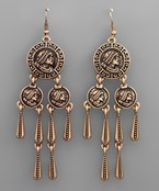 Coin Chandelier Earrings