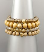4 Row Bead Ball Bracelet
