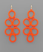 Neon Coat Chandelier Earrings