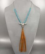 Longhorn & Tassel Necklace
