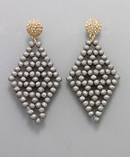 Bead Diamond Earrings