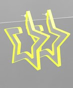 Neon Lucite Star Hoops