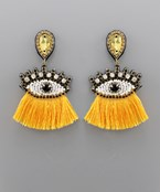Evil Eye & Tassel Earrings