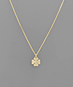 Crystal Clover Necklace