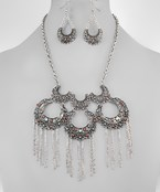 Fringed Crescent Necklace