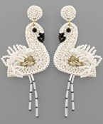 Bead Flamingo Earrings