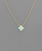 Glitter Clover Necklace