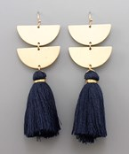 Tassel & Half Circle Earrings