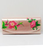 Flower Vine Embroidered Clutch