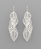 Painted Leaves Earrings