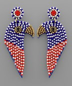 USA Bead Eagle Earrings