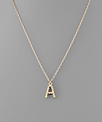 Crystal Pave Twist Initial Necklace