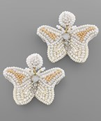 Bead Butterfly Earrings