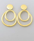 Double Ring Drop Earrings