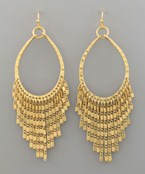 T-Drop Fringe Earrings