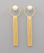 Pearl & Fringe Earrings