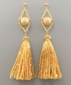 Tassel & Ball Earrings