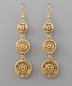Shotgun Shell Drop Earrings