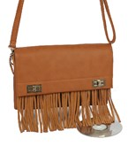 Fringe & Lock Crossbody