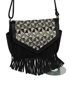 Tribal Pattern Fringed Crossbody
