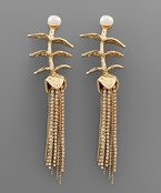 Chain Fringe Branch Earrings