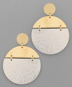 Sand Texture Disk Earrings