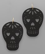 Heart Eye Skull Earrings