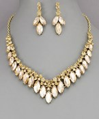 Marquise Crystal Necklace