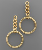 Ring & Chain Drop Earrings