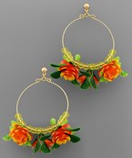 Blossom Cluster Circle Earrings