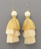 3 Tier Tassel Earrings