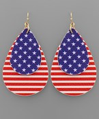 USA Flag Teardrop Earrings