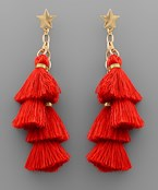 Star & Tassel Dangle Earrings