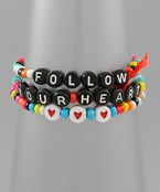 Follow Your Heart Bracelet Set